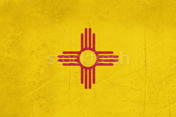 Grunge New Mexico bayrak örnek Amerika Birleşik Devletleri Amerika Stok fotoğraf © speedfighter