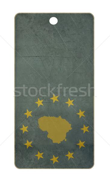 Litvánia utazás címke izolált fehér copy space Stock fotó © speedfighter