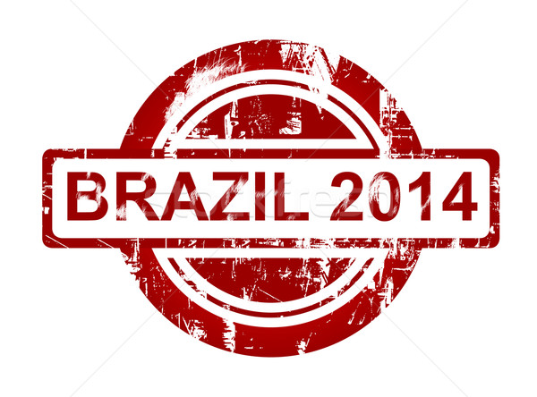 Brazil 2014 stamp Stock photo © speedfighter