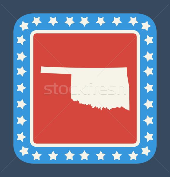 Оклахома кнопки американский флаг веб-дизайна стиль изолированный Сток-фото © speedfighter