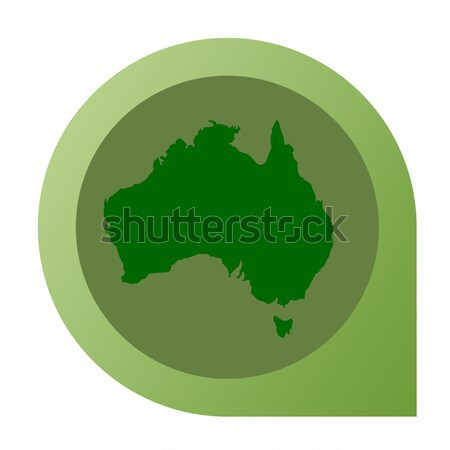 Stock photo: Isolated Australian map marker pin
