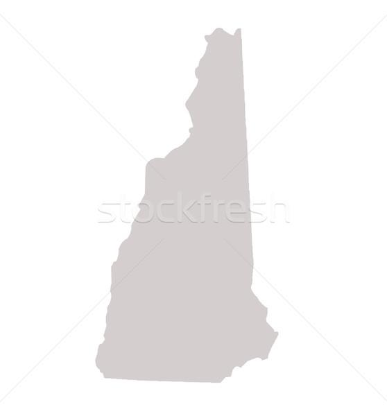 New Hampshire Pokaż odizolowany biały USA Ameryki Zdjęcia stock © speedfighter