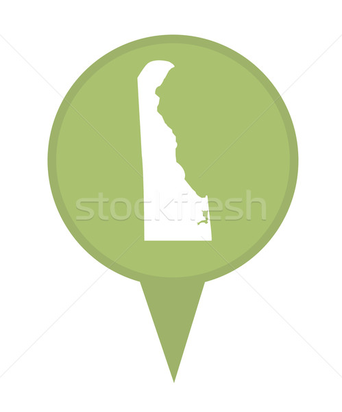 Delaware mapa pin americano marcador isolado Foto stock © speedfighter