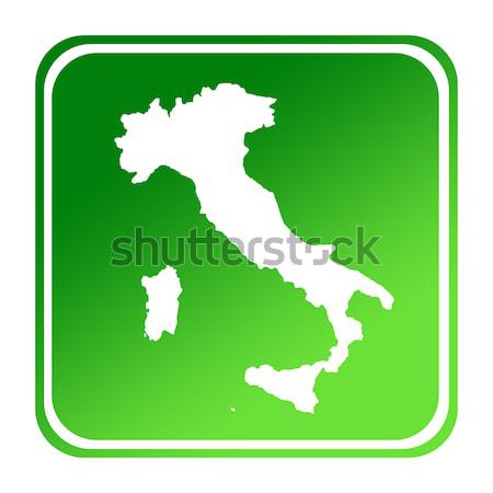 Italy map on computer tablet Stock photo © speedfighter