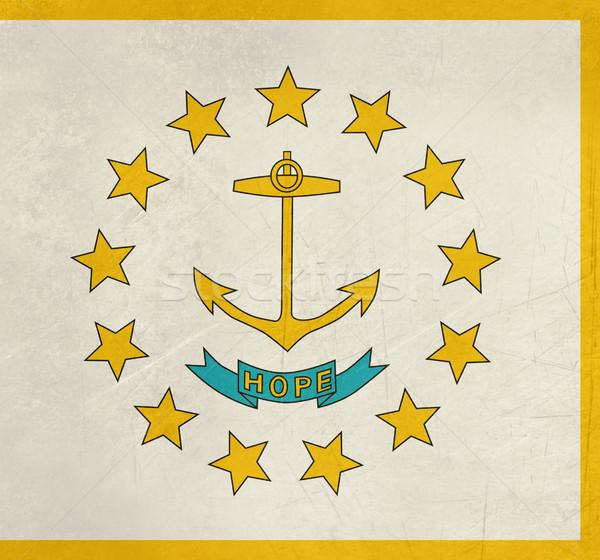 Rhode Island bayrak grunge Amerika yalıtılmış beyaz Stok fotoğraf © speedfighter