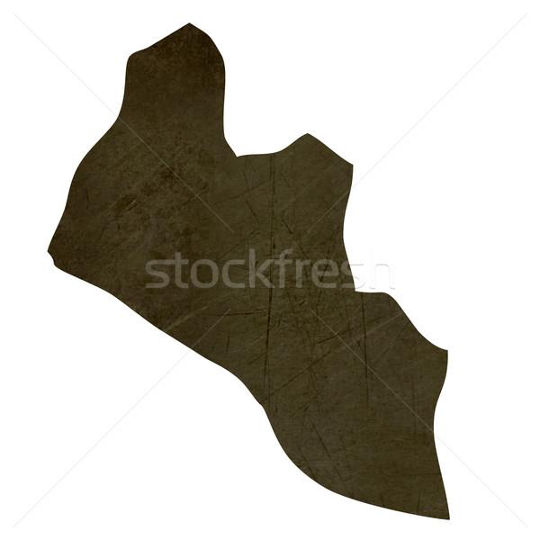 Escuro mapa Libéria isolado branco Foto stock © speedfighter