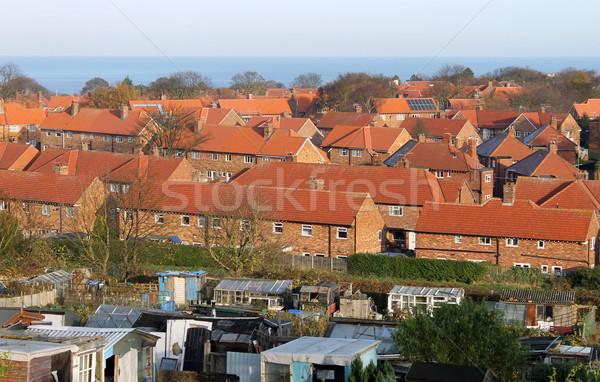 Red brick housing estate in England Stock photo © speedfighter