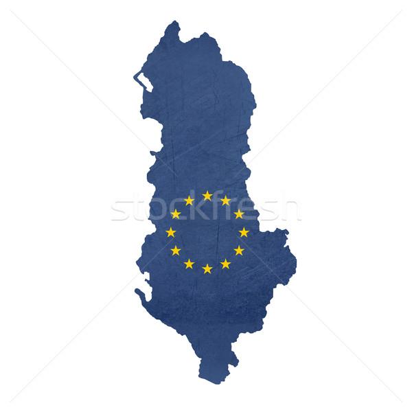 European flag map of Albania Stock photo © speedfighter