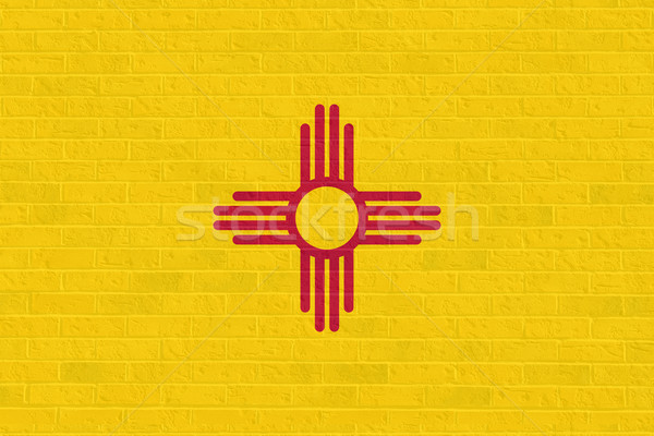 New Mexico state flag on brick wall Stock photo © speedfighter