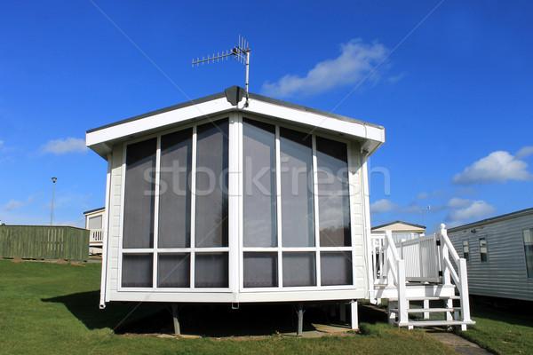 Foto stock: Moderno · caravana · parque · cênico · ver · verão