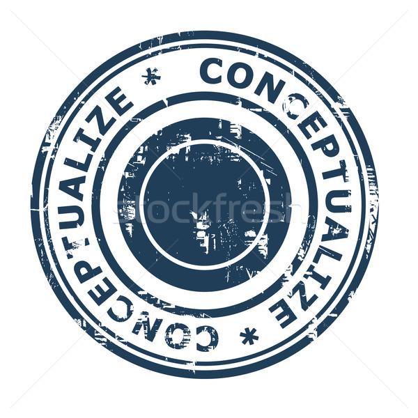 Negócio isolado branco azul comunicação Foto stock © speedfighter