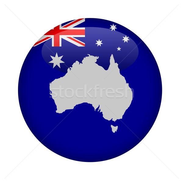 Austrália mapa botão branco europa círculo Foto stock © speedfighter