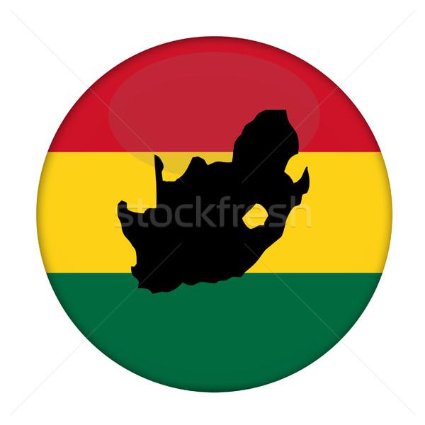 Sudáfrica mapa bandera botón blanco negocios Foto stock © speedfighter