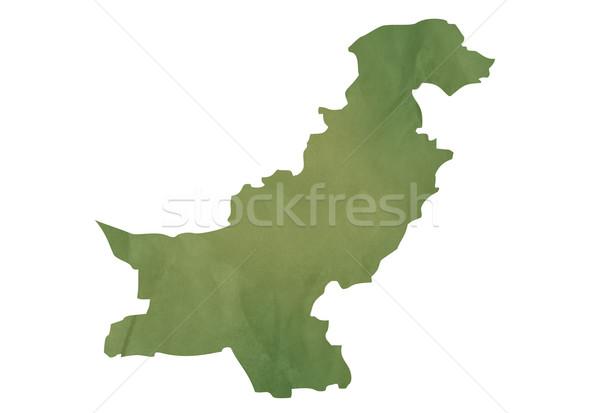 öreg zöld térkép Pakisztán mintázott papír Stock fotó © speedfighter
