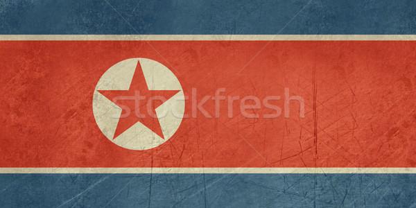 Zdjęcia stock: Grunge · na · północ · banderą · kraju · urzędnik · kolory