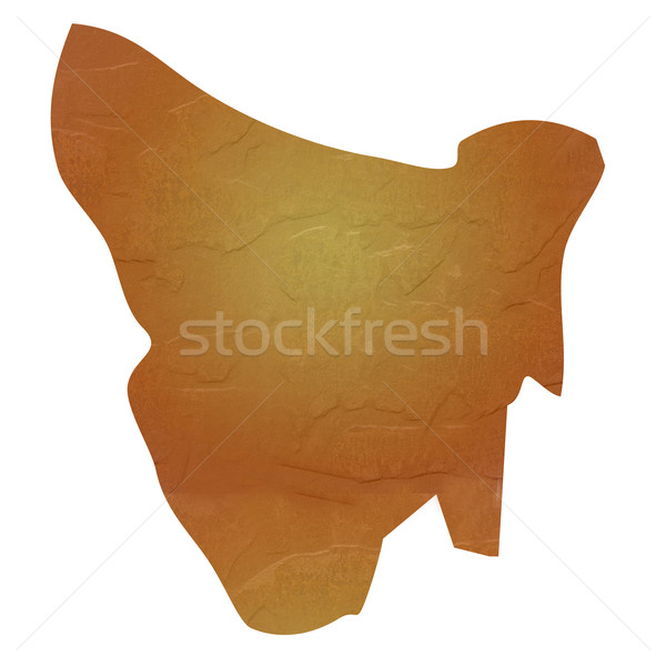 Mapa tasmania marrón rock piedra Foto stock © speedfighter