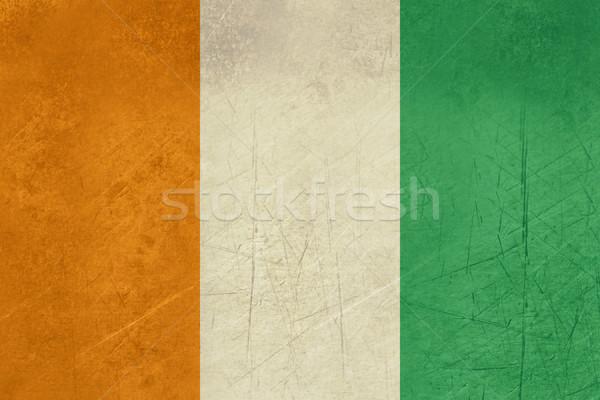 Grunge Wybrzeże Kości Słoniowej banderą kraju urzędnik kolory Zdjęcia stock © speedfighter