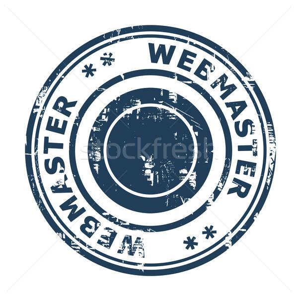 Webmaster seo timbro isolato bianco business Foto d'archivio © speedfighter