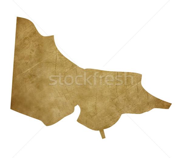 Grunge Australia Victoria treasure map Stock photo © speedfighter