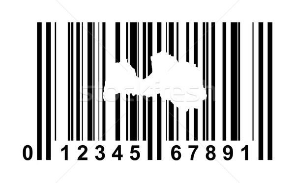 Letland streepjescode winkelen geïsoleerd witte reizen Stockfoto © speedfighter