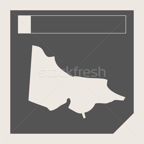Australia Victoria map button Stock photo © speedfighter