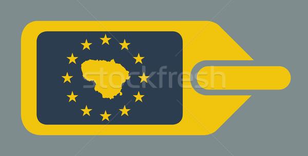 Литва европейский Камера Label путешествия тег Сток-фото © speedfighter