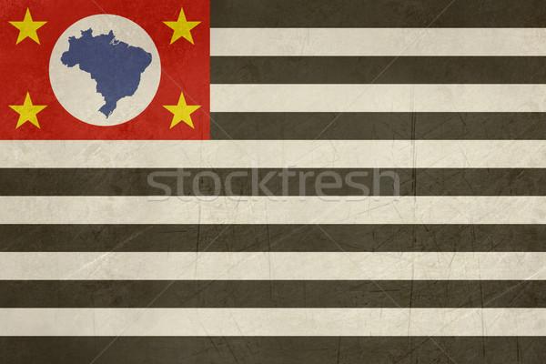 Grunge zászló Sao Paulo Brazília Stock fotó © speedfighter