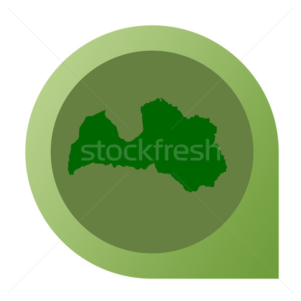 Geïsoleerd Letland kaart fiche pin web design Stockfoto © speedfighter
