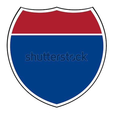 Blank interstate highway shield Stock photo © speedfighter