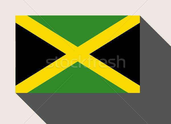 Jamaïque pavillon web design style carte bouton Photo stock © speedfighter
