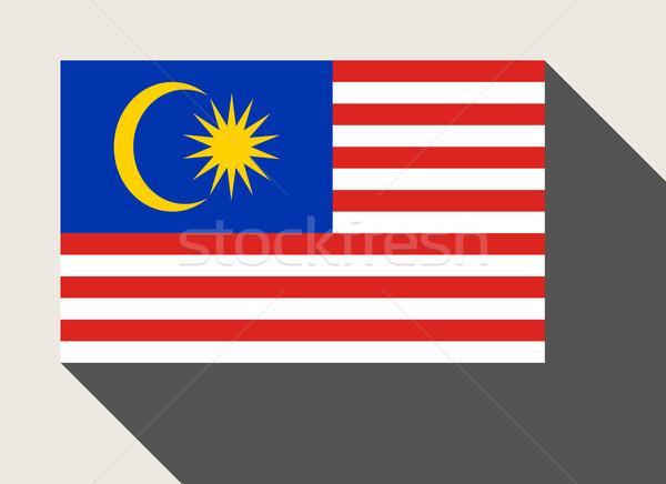 Malaisie pavillon web design style carte bouton Photo stock © speedfighter