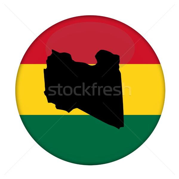 Libya map on a Rastafarian flag button Stock photo © speedfighter