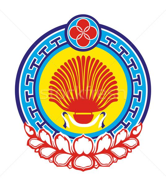 Kalmykia coat of arms Stock photo © speedfighter