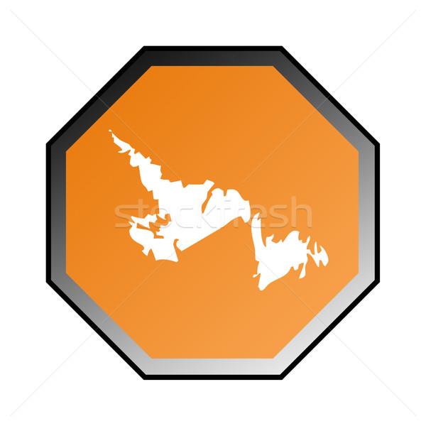 ニューファンドランド島 道路標識 孤立した 白 フレーム オレンジ ストックフォト © speedfighter