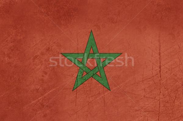 Grunge Marruecos bandera país oficial colores Foto stock © speedfighter