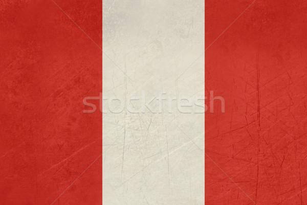 Grunge Peru zászló vidék hivatalos színek Stock fotó © speedfighter