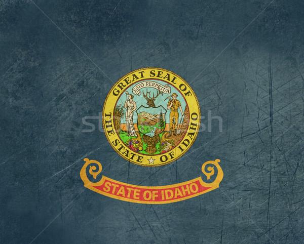 Grunge Idaho vlag amerika geïsoleerd witte Stockfoto © speedfighter