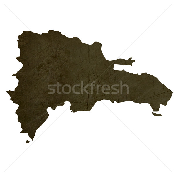 Dark silhouetted map of Dominican Republic Stock photo © speedfighter