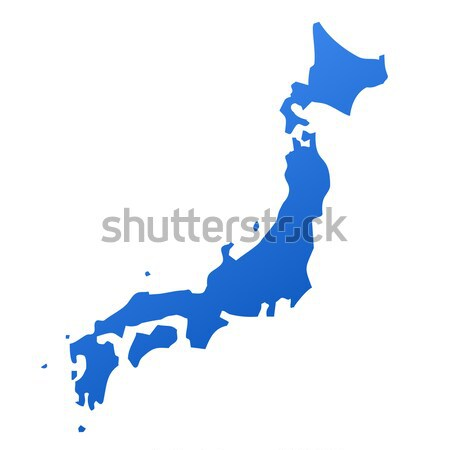 Dark silhouetted map of Japan Stock photo © speedfighter