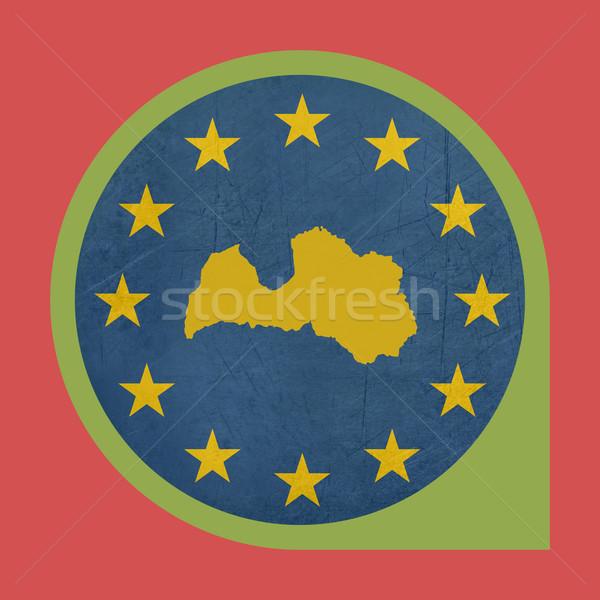 Europese unie Letland fiche knop geïsoleerd Stockfoto © speedfighter