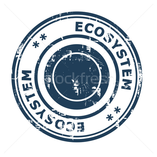 Ecosysteem business geïsoleerd witte Blauw Stockfoto © speedfighter