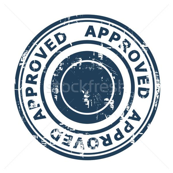 Elismert üzlet bélyeg izolált fehér kék Stock fotó © speedfighter