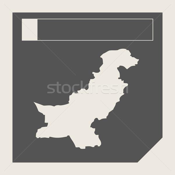 Pakistan harita düğme duyarlı web tasarım yalıtılmış Stok fotoğraf © speedfighter