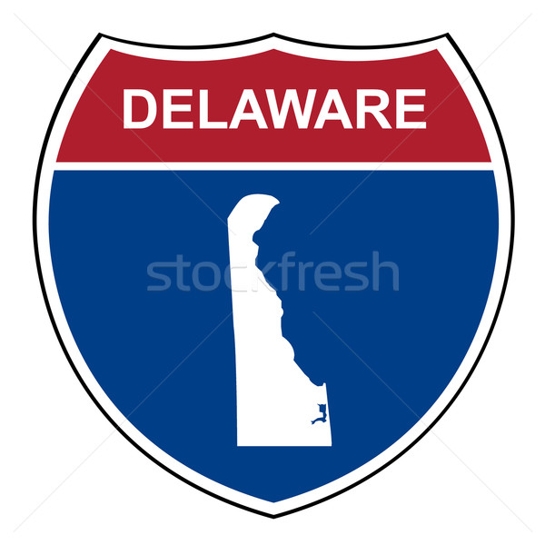 Delaware interestadual rodovia escudo americano estrada Foto stock © speedfighter