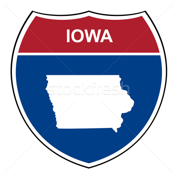 Iowa interstate autoroute bouclier route Photo stock © speedfighter
