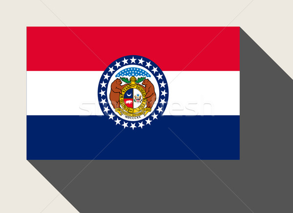 Americano Misuri bandera diseno web estilo botón Foto stock © speedfighter