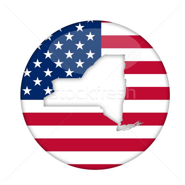 New York amerika badge geïsoleerd witte business Stockfoto © speedfighter