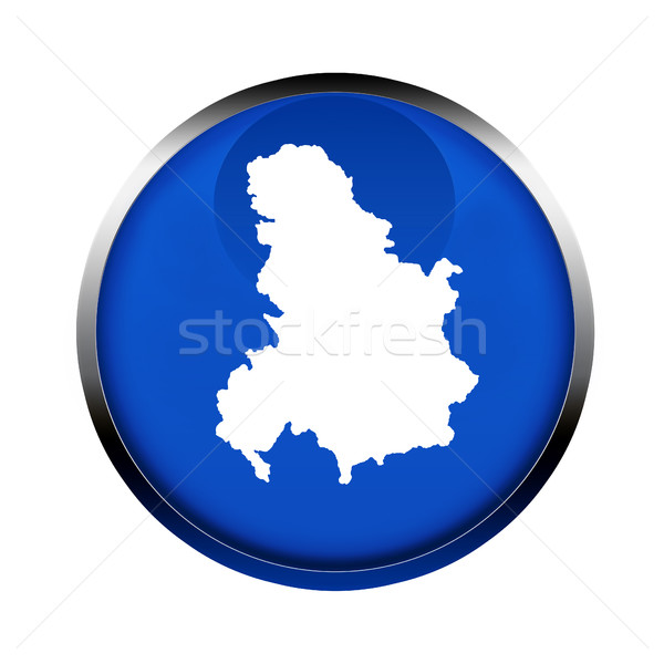 Serbia and Montenegro map button Stock photo © speedfighter