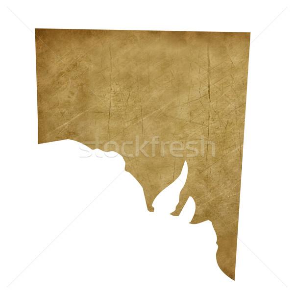 Grunge Southern Australia treasure map Stock photo © speedfighter