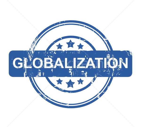 Globalização negócio carimbo estrelas isolado branco Foto stock © speedfighter